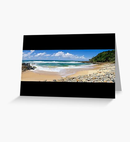Coolum Beach - Queensland Australia - Panorama Greeting Card
