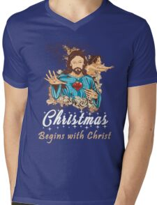 Christmas Begins With Christ - Christmas Gifts Mens V-Neck T-Shirt
