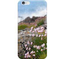 coastal pink wildflowers iPhone Case/Skin