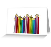 Pencils in line Greeting Card