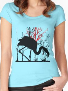 flamant rose 1 Women's Fitted Scoop T-Shirt