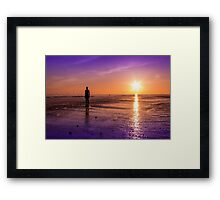 Tranquillity at Crosby Beach Framed Print