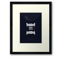 Alien Minimalist Series - Alien Framed Print
