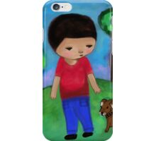 Boy and Dog iPhone Case/Skin