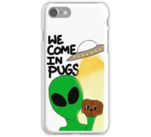WE COME IN PUGS iPhone Case/Skin
