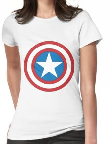 captain amerika Womens Fitted T-Shirt