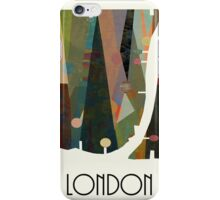 london city map abstract  iPhone Case/Skin