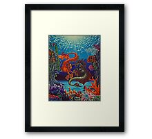 """They Play at Ocean's Ground"" Framed Print"