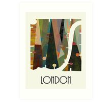london city map abstract  Art Print