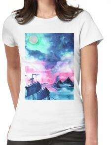 Neverland Sky Womens Fitted T-Shirt