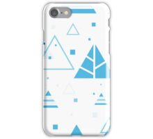 Xmas Pattern Contemporary - Blue iPhone Case/Skin