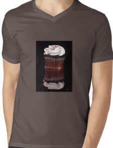 Chocolate Cupcake Painting Print Mens V-Neck T-Shirt