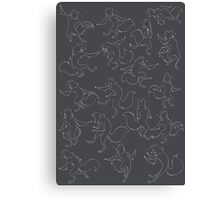 Foxy Dancing Canvas Print