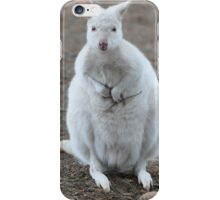 White Wallaby iPhone Case/Skin