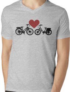 Bike Love Mens V-Neck T-Shirt