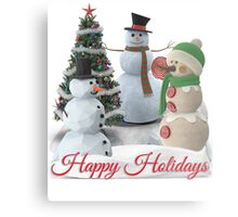 SnowPals Happy Holidays Metal Print