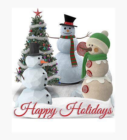 SnowPals Happy Holidays Photographic Print