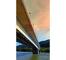 Danube river bridge   architectural photography Photographic Print