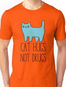 Cat Hugs, Not Drugs Unisex T-Shirt