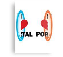I love Portal! Metal Print