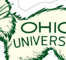 Ohio University Bobcat Vintage Buckeye State Sticker