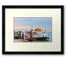 "love this boat. ""Eborense"". Tagus river. Lisbon Framed Print"