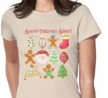 Baking Christmas Bright Womens Fitted T-Shirt