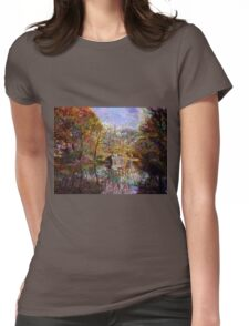NARROWBOAT ON THE TRENT & MERSEY CANAL Womens Fitted T-Shirt