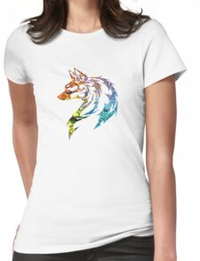 Trippy Tribal Wolf/Fox Womens Fitted T-Shirt