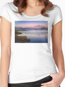 Morning Wonder on High Women's Fitted Scoop T-Shirt
