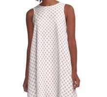 Lotus Polka Dots A-Line Dress