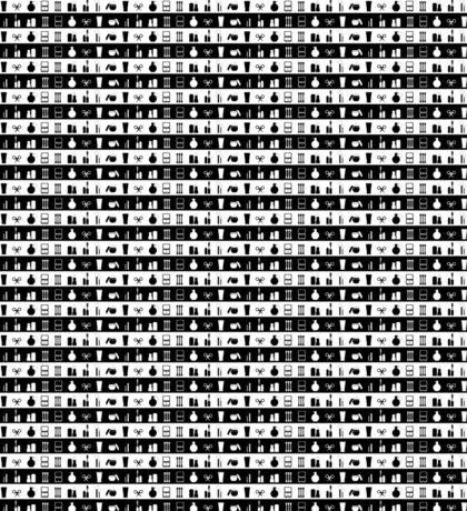 Black And White Womens Makeup Stripes Sticker