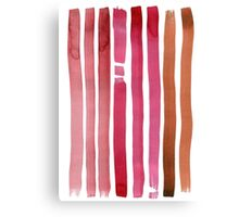 Watercolor abstract lines Canvas Print
