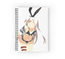 Anime bunny girl Spiral Notebook
