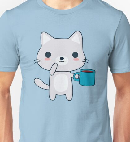 Cute Coffee Cat  Unisex T-Shirt