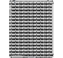 Black And White Womens Makeup Stripes iPad Case/Skin