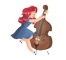 Double Bass Dancer by mustashleigh