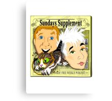 Sundays Supplement Official Tee Canvas Print