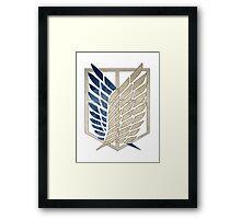 Survey Corps Insignia Framed Print