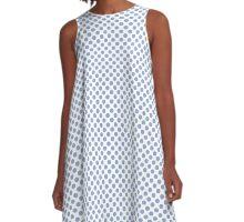Serenity Polka Dots A-Line Dress