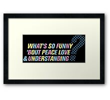 Elvis Costello-What's So Funny... Framed Print