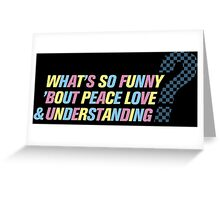 Elvis Costello-What's So Funny... Greeting Card