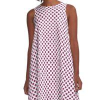 Festival Fuchsia Polka Dots A-Line Dress