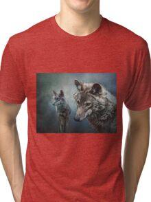 Wolves in Moonlight Tri-blend T-Shirt