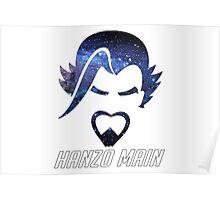 """Overwatch Hanzo Galaxy Design - """"Hanzo Main"""" Poster"""
