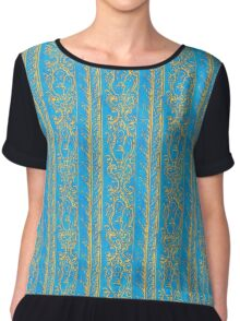 Regal Decor Design Blue Chiffon Top