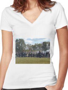Battle of Pilot Knob Women's Fitted V-Neck T-Shirt