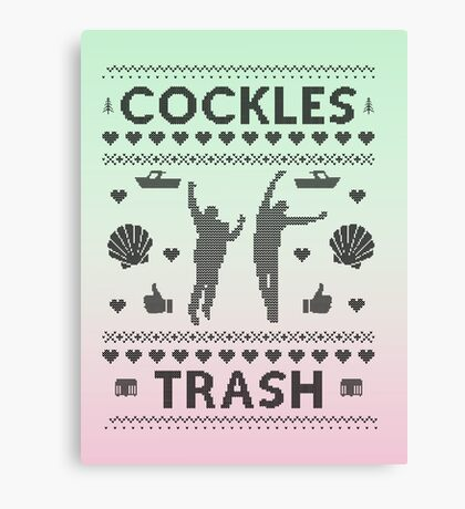 Cockles Trash Ugly XMAS Sweater Canvas Print