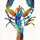 Colorful Lobster Art by Sharon Cummings by Sharon Cummings