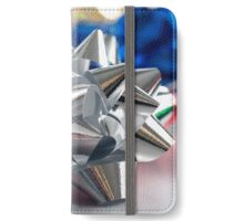 Foil Christmas bows iPhone Wallet/Case/Skin